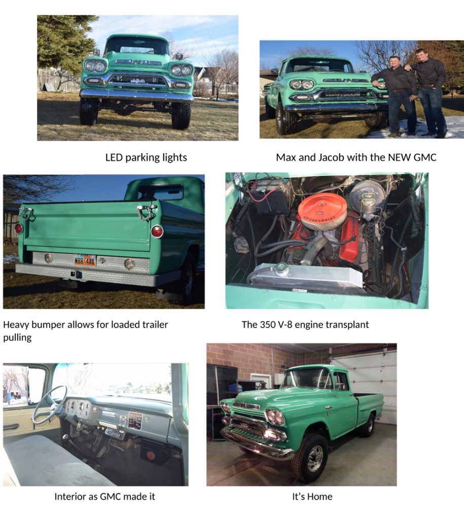 1967-1968 Chevy GMC Truck Show Panel 2 pc Black Anodized SHARP GM Restoration